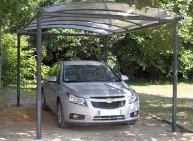 Abri voiture en métal gainé PVC  - null