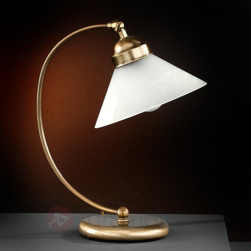 Belle lampe à poser TESSA en laiton ancien - Lampes à poser classiques, antiques