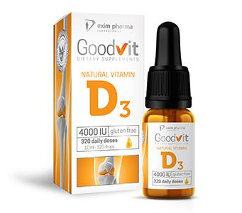 Goodvit Natural Vitamin D3 4000 – drops - null