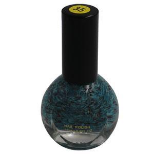 Cosmetics - Blue-Red Glitter Nail Polish