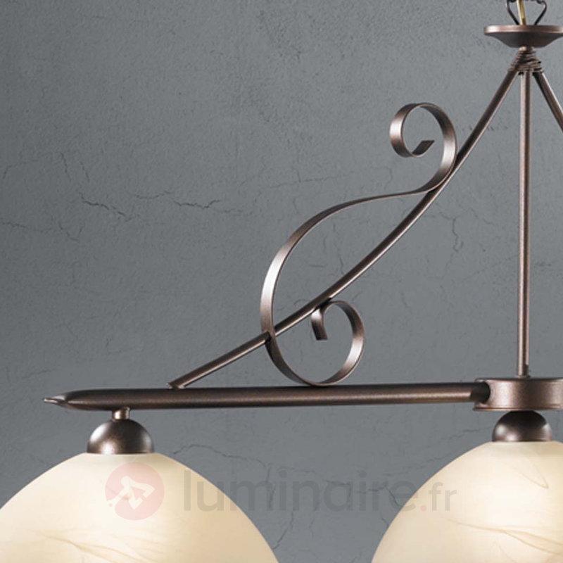 Suspension à trois lampes Murali abat-jour verre - Suspensions rustiques