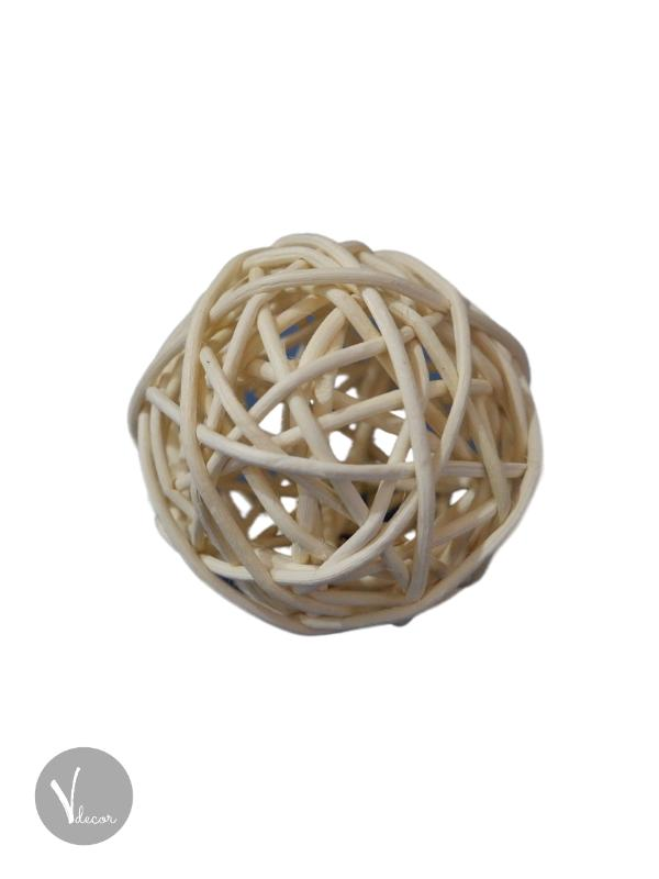White Round Rattan Decorative Balls - Shop