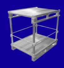 Palette mit Steckfüßen - Hurtz Aluminium Sonderkonstruktionen