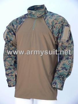 combat shirt digital woodland camo - PNS-CS131203DW