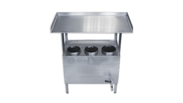 Stainless steel work tables -