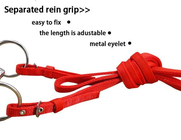horse bridle with separated rein ,with Polar fleece cushion - horse halter
