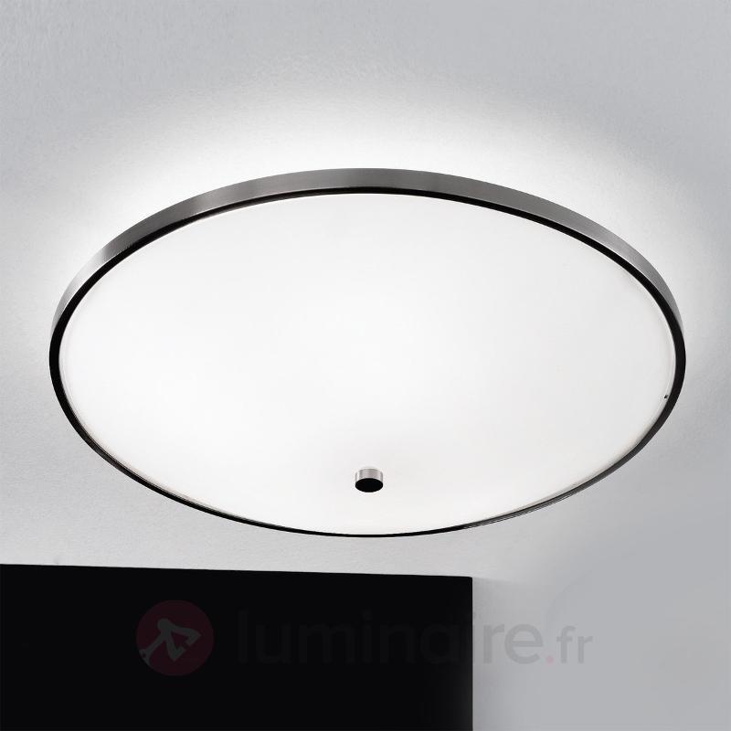 Plafonnier polyvalent Samira bordure métallique - Plafonniers en verre