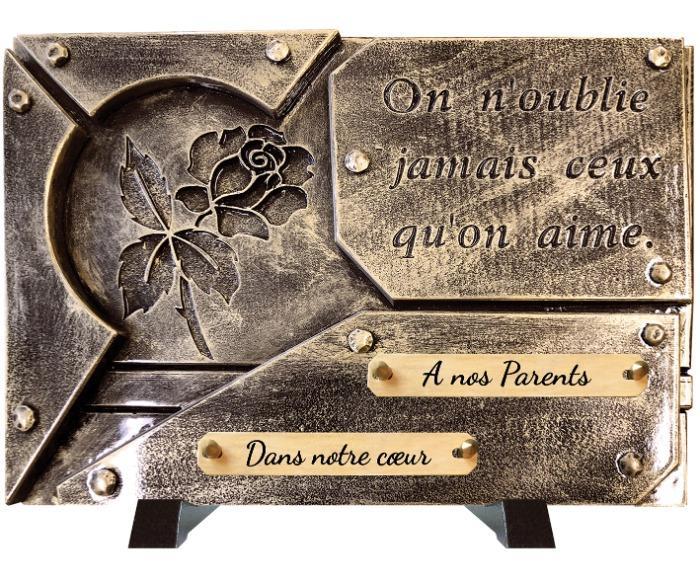 PLAQUE FUNERAIRE - Plaque funéraire contemporaine