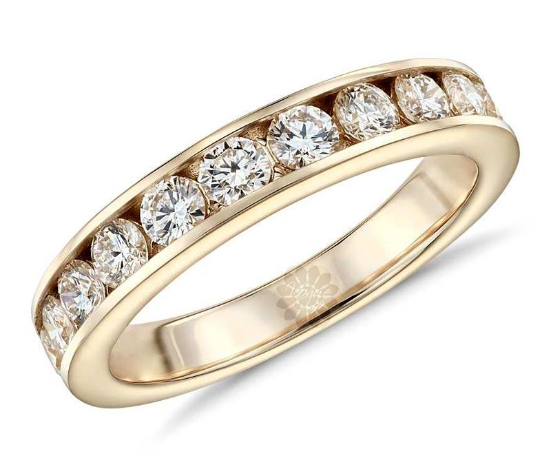 Gold and Diamond Wedding Ring -