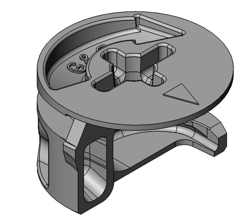 Exzenter Sonder - Zamak - 15mm - Bauhöhe 9,5mm - PZ2 - m.L. - Exzenter Zn 15 mm