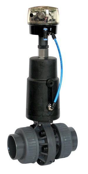 Pneumatically operated butterfly valve GEMÜ 410 - The GEMÜ 410 butterfly valve is pneumatically operated.