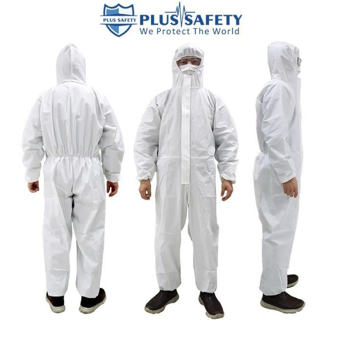 Overoles de protección quirúrgica desechables 55 gsm 60gsm - Type 3 4 5 6 Overalls , Disposable Microporous Coveralls EN 14126