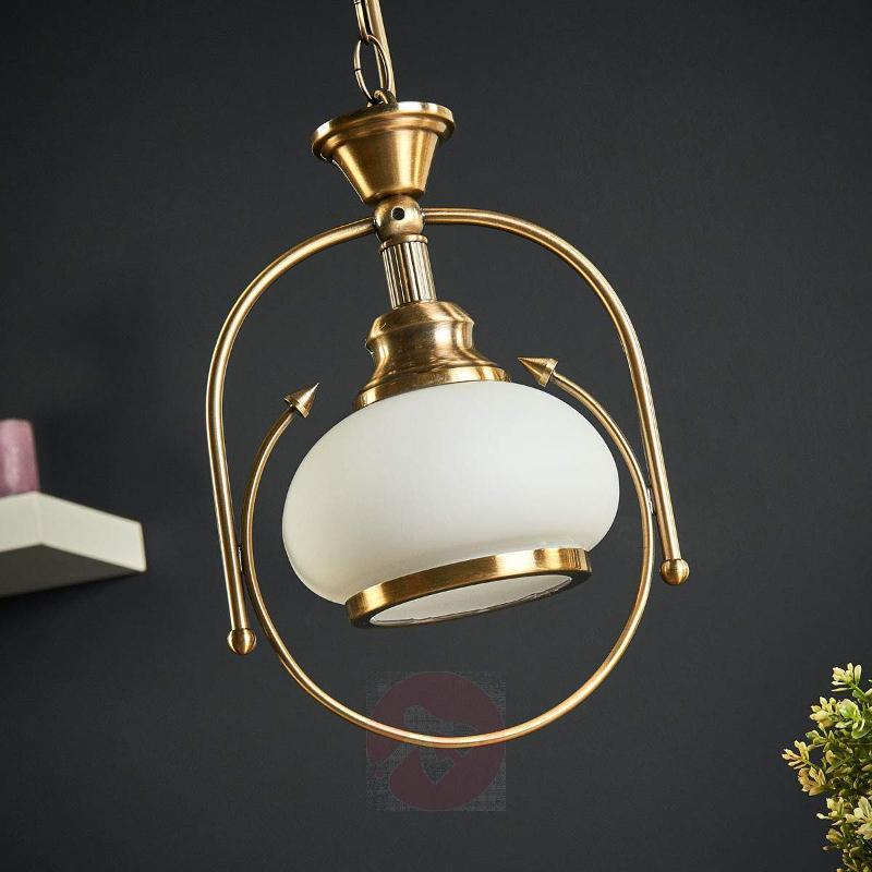 NOSTALGIKA 1 Lamp Ant. Brass Pendant Lamp - Pendant Lighting