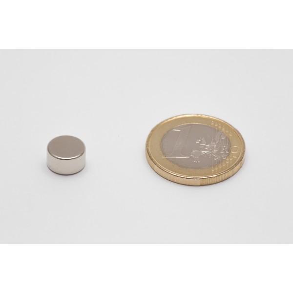 Neodymium disc magnet 9x5mm, N45, Ni-Cu-Ni, Nickel coated - Disc