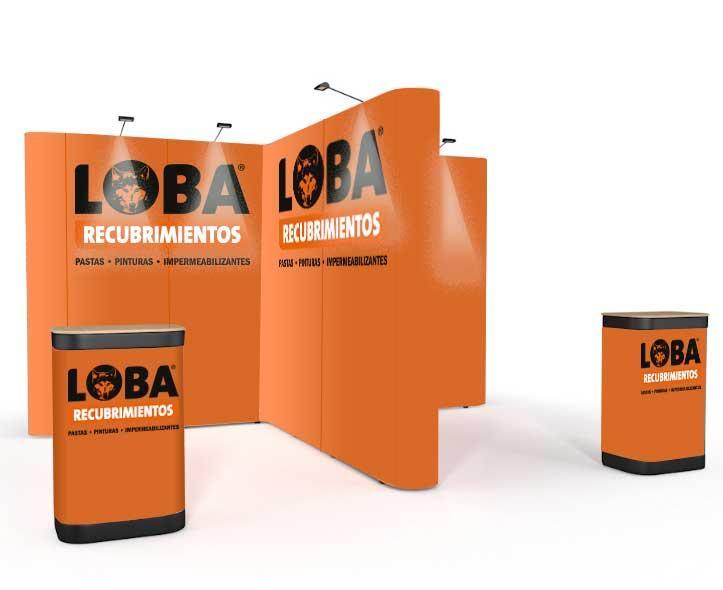 Isola promozionale a T - Un'isola promozionale trasportabile in trolley con stampa personalizzata