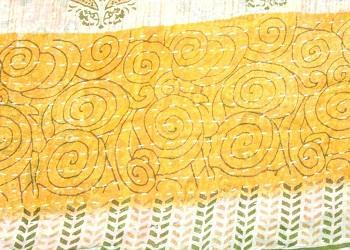 Indian vintage Cotton Kantha Quilt twin blanket