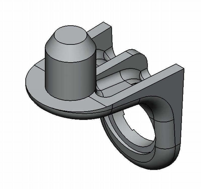 Bodenträger Standard - Zamak - 1 Loch, 1 Zapfen - blank - Bodenträger Zn 1 Zapfen