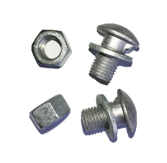 Guardrail Bolts - Guardrail Bolts assembled with Hex Nuts and Flat Washers