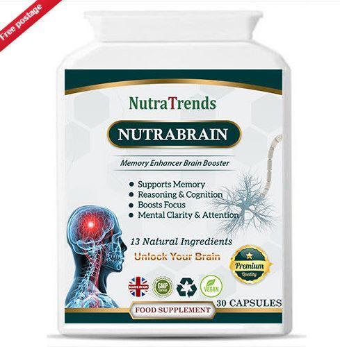 Nutrabrain, a Memory & Brain Enhancer Plus Mental Focus form - Nutrabrain, a Memory & Brain Enhancer Plus Mental Focus formula 30 veg capsule