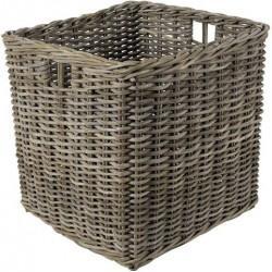 Cache-pot carré rotin gris - Extérieur