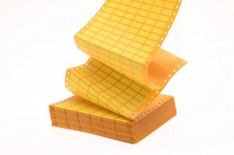 yellow equipment labels with perforations - labels from Steierform 87-60160 material, yellow