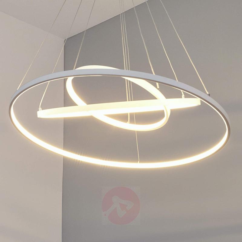 Powerful LED pendant lamp Eline with 3 rings - design-hotel-lighting