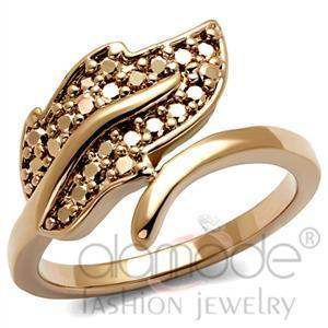 Fashion Rings - IP Rose Gold(Ion Plating) AAA Grade CZ Ring