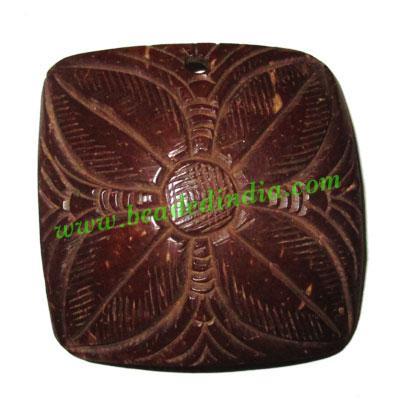 Handmade coconut shell wood pendants, size : 51x3mm - Handmade coconut shell wood pendants, size : 51x3mm