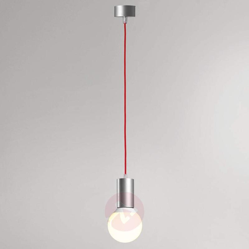 Miki - pendant lamp with red fabric cable - Pendant Lighting