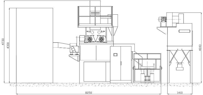 OMSG ROTOFLOW 170N - Sabbiatrici e granigliatrici
