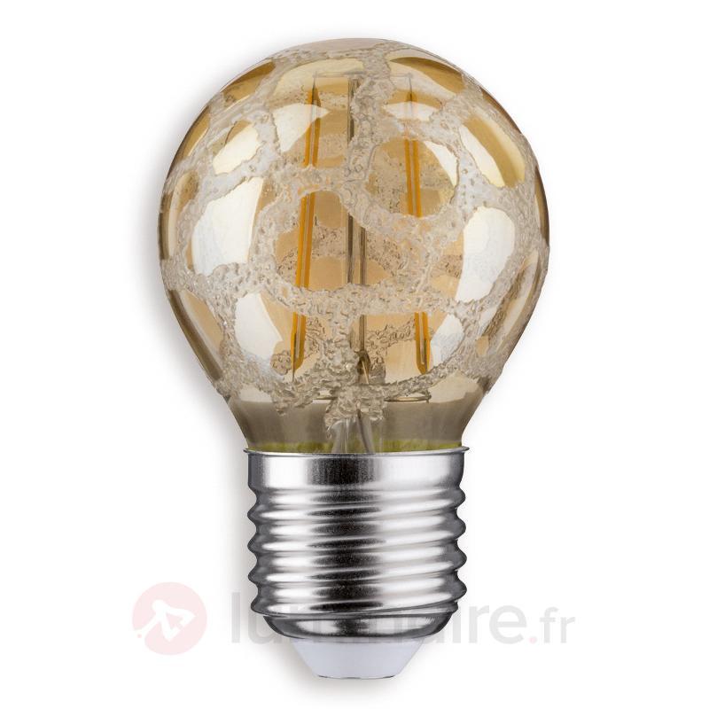 Ampoule goutte LED E27 2,5W 825 croco doré givré - Ampoules LED E27
