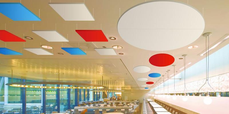 Paneles acústicos suspendidos del techo - Cloudsorba