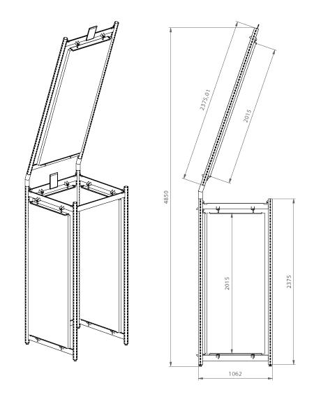 Modular shop rack systems & instore interior shelving design - Doors presentation