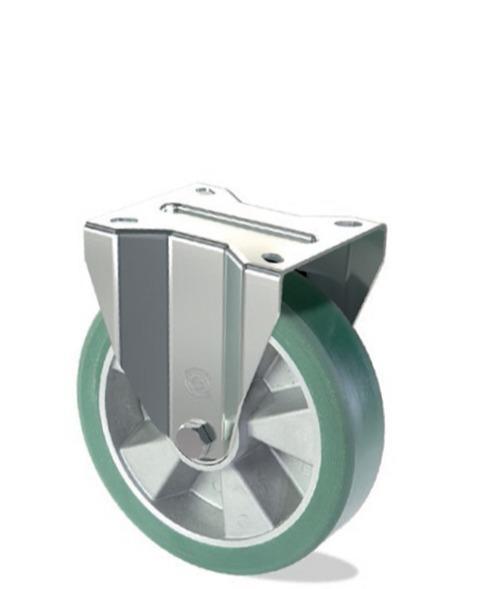 Ruota in poliuretano 75 Shore A con nucleo in alluminio - Serie pesante