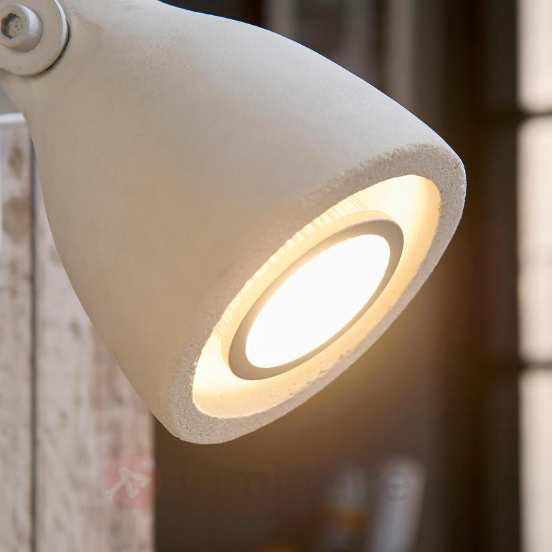 Spot en béton blanc Kadiga, LED - Spots et projecteurs LED