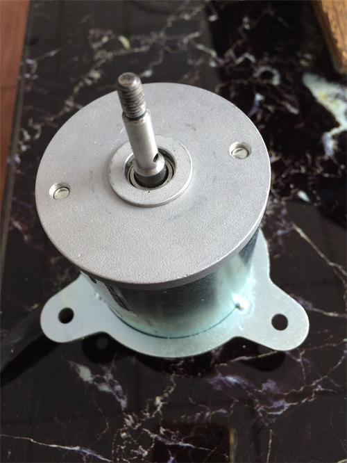dc brush motor with flange