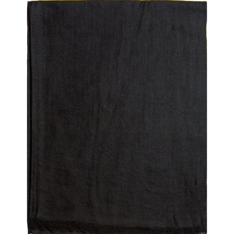 Etole En Voile De Cachemire Unie - Noir - HIVER 21-22