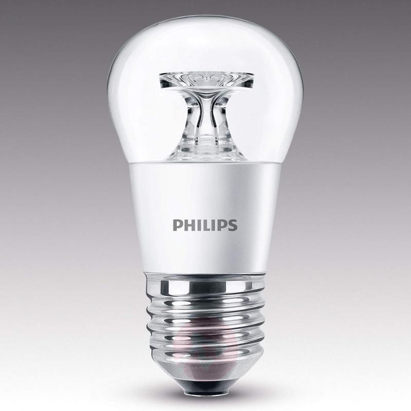 E27 4 W 827 LED golf ball bulb, clear - light-bulbs
