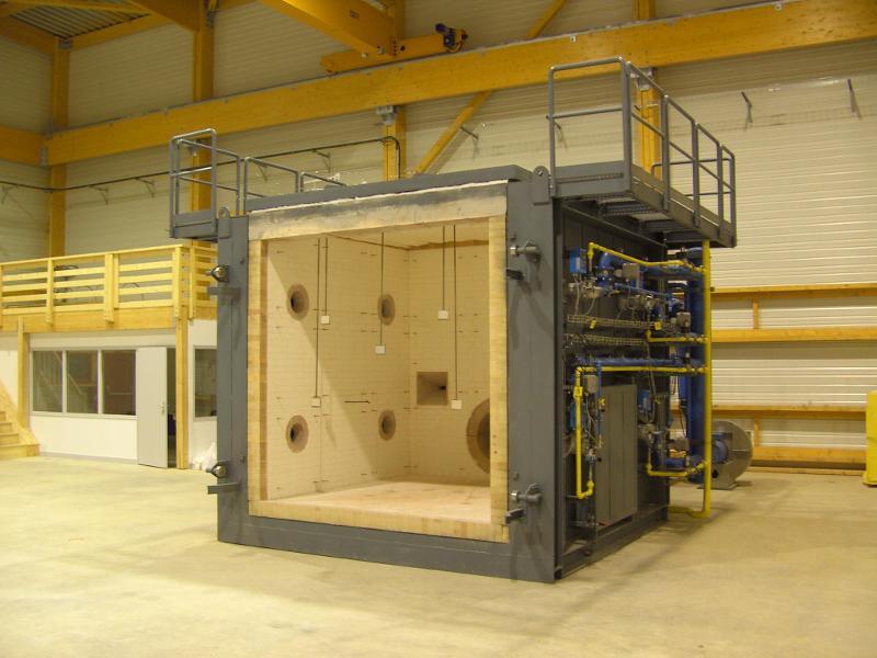 Fours pour tests de résistance au feu  - Avec système de pilotage BTF