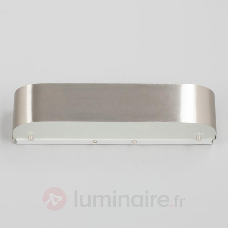 Applique LED élégante Nika, nickel mat - Appliques LED