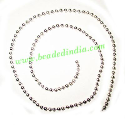 Silver Plated Metal Chain, size: 2.5mm, approx 50.8 meters i - Silver Plated Metal Chain, size: 2.5mm, approx 50.8 meters in a Kg.