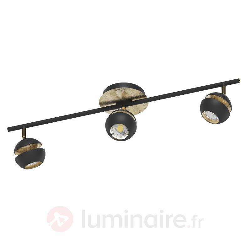 Plafonnier LED noir-or Nocito - 3 têtes - Spots et projecteurs LED