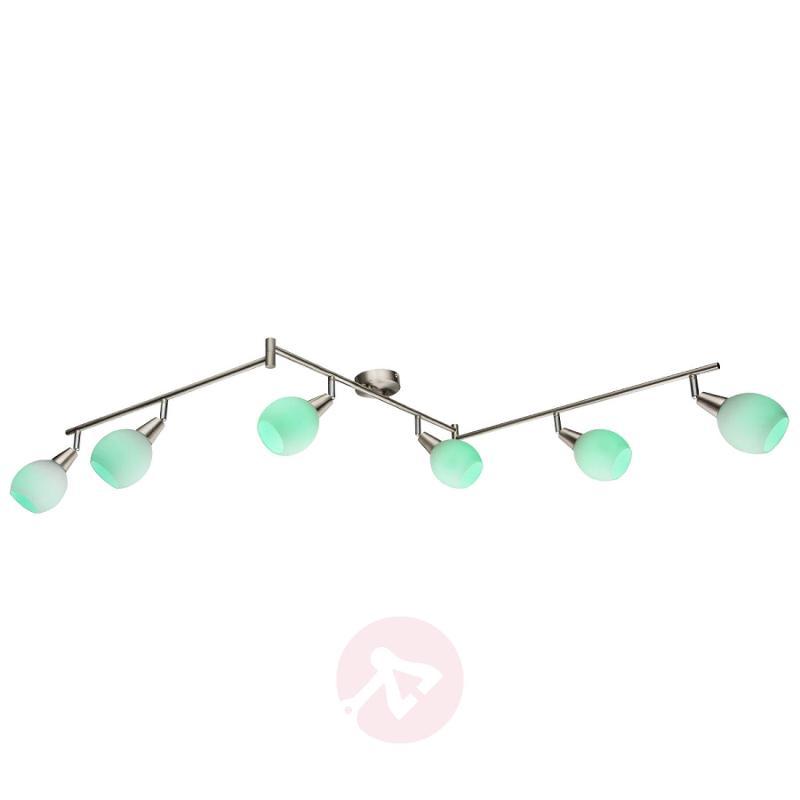Three-armed RGB LED 6-bulb ceiling light Kaiden - indoor-lighting