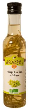 Organic White Old Vinegar with Sprigs of Tarragon 6 % - null