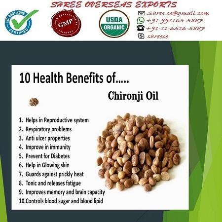 Organic Chironji Oil - USDA Organic