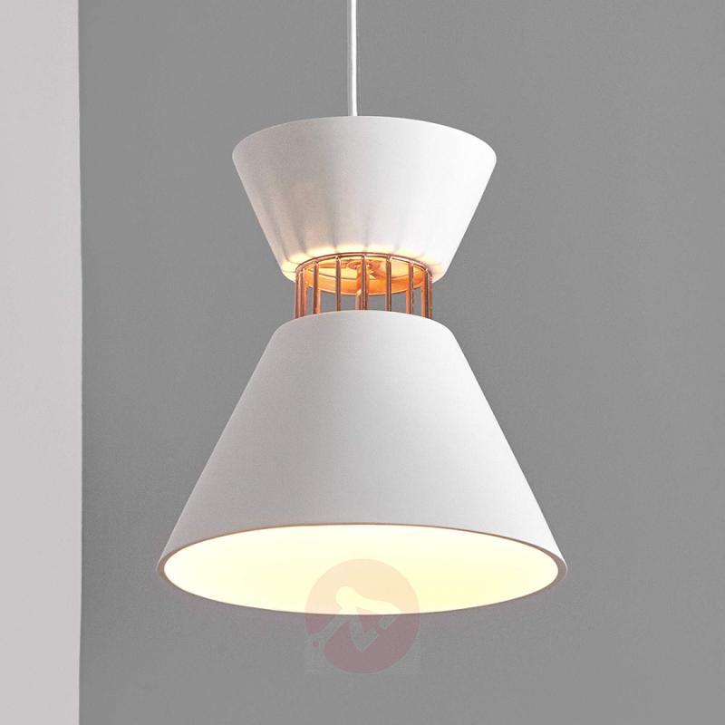 Modern plaster light source - Morina hanging lamp - indoor-lighting