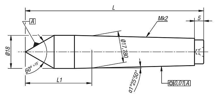 Pointe à 60° CM2 - Eléments pour montage de contrôle