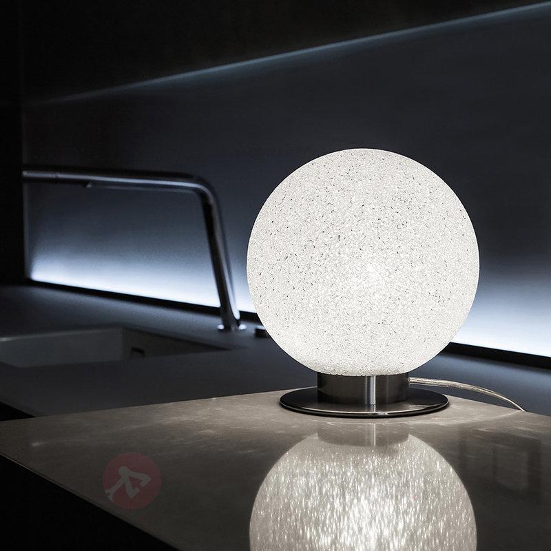 Lampe à poser ronde ICEGLOBE sur pied métallique - Lampes de chevet
