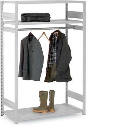 Kleiderstangen- / Garderobenregale Steck- oder Schraubsystem - null