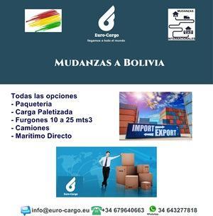 Mudanzas a Bolivia - Desde España y otros países de la Unión Europea